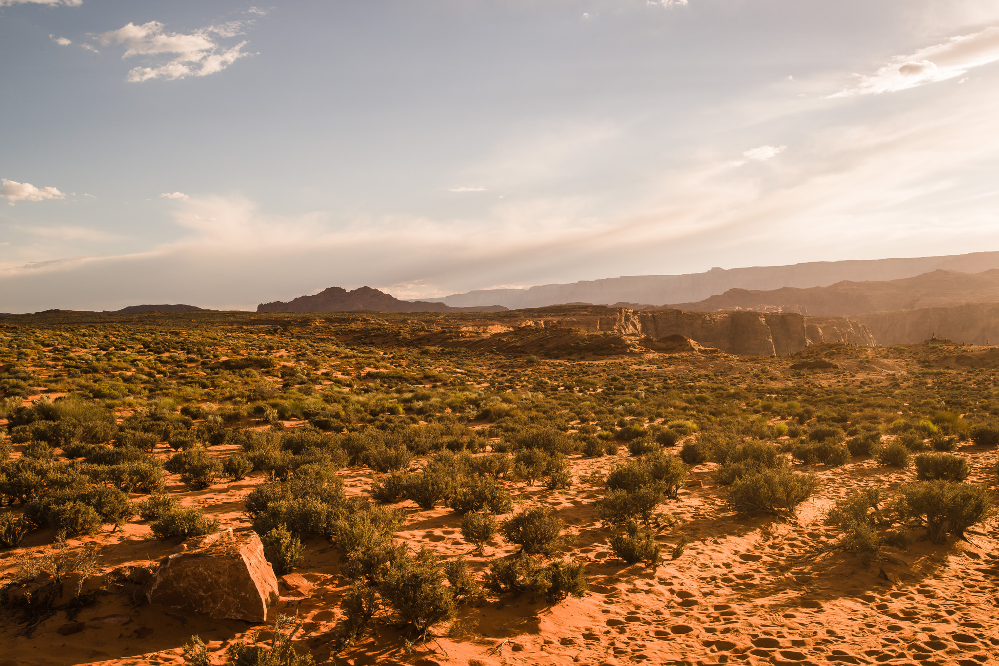 Desert landscape of Page, AZ