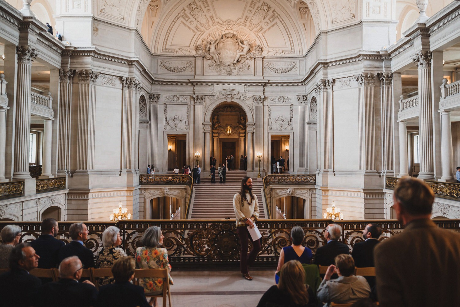 SF City Hall Mayor's Balcony Wedding