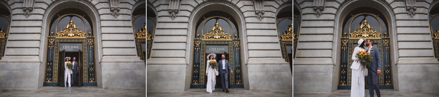 SF City Hall Wedding Exit