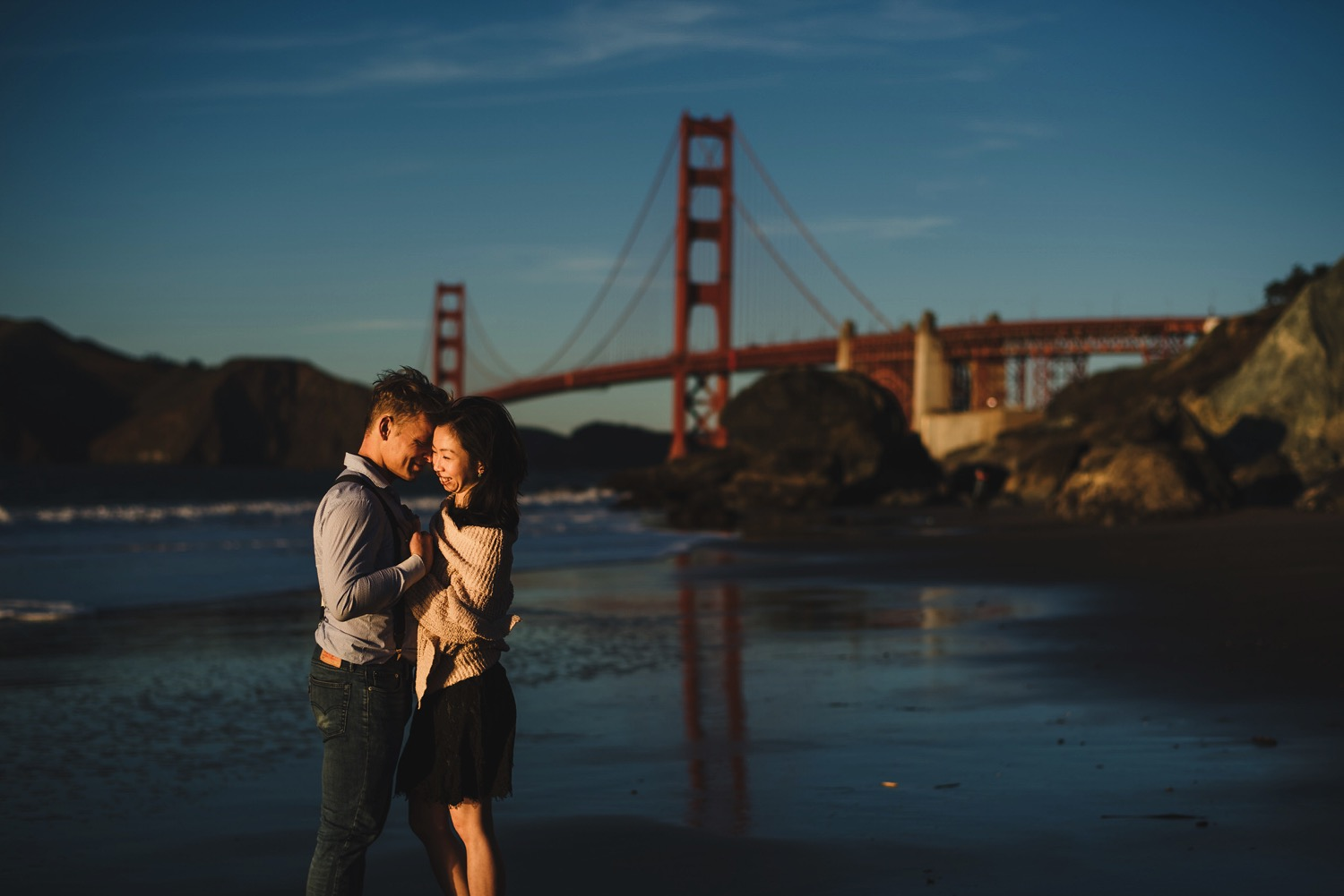 Golden Gate Bridge Engagement Photos