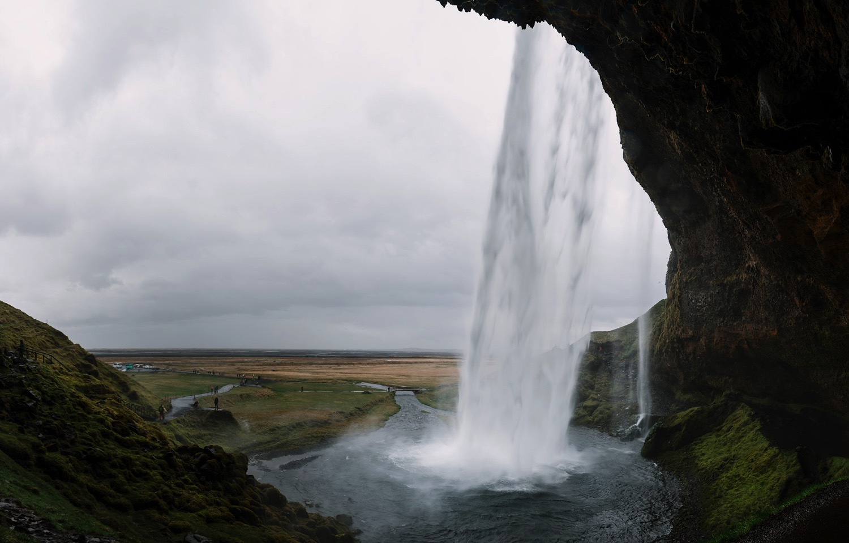 Behind Seljalandsfoss, Iceland