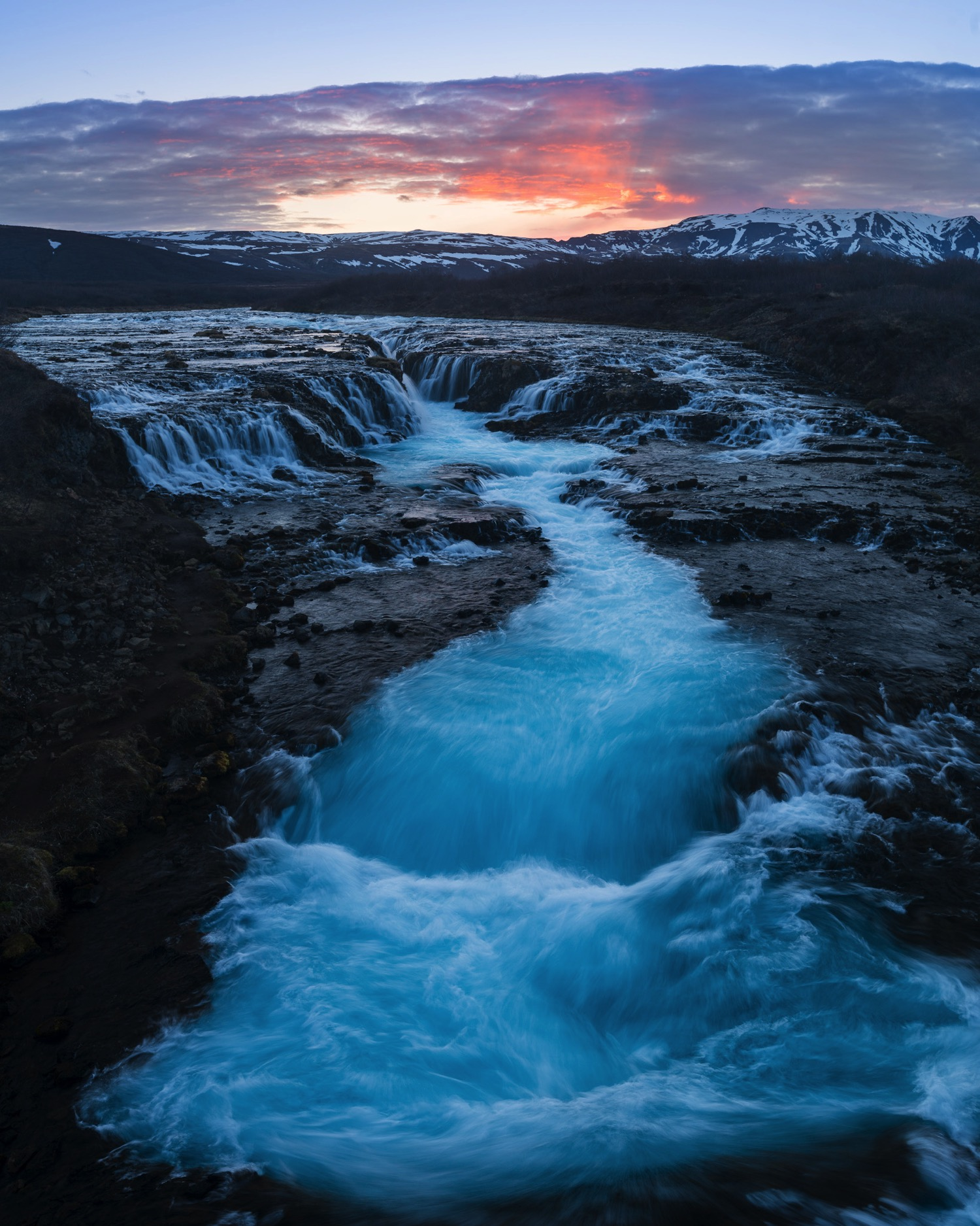 Sunset at Bruarfoss - Iceland Blog Part II