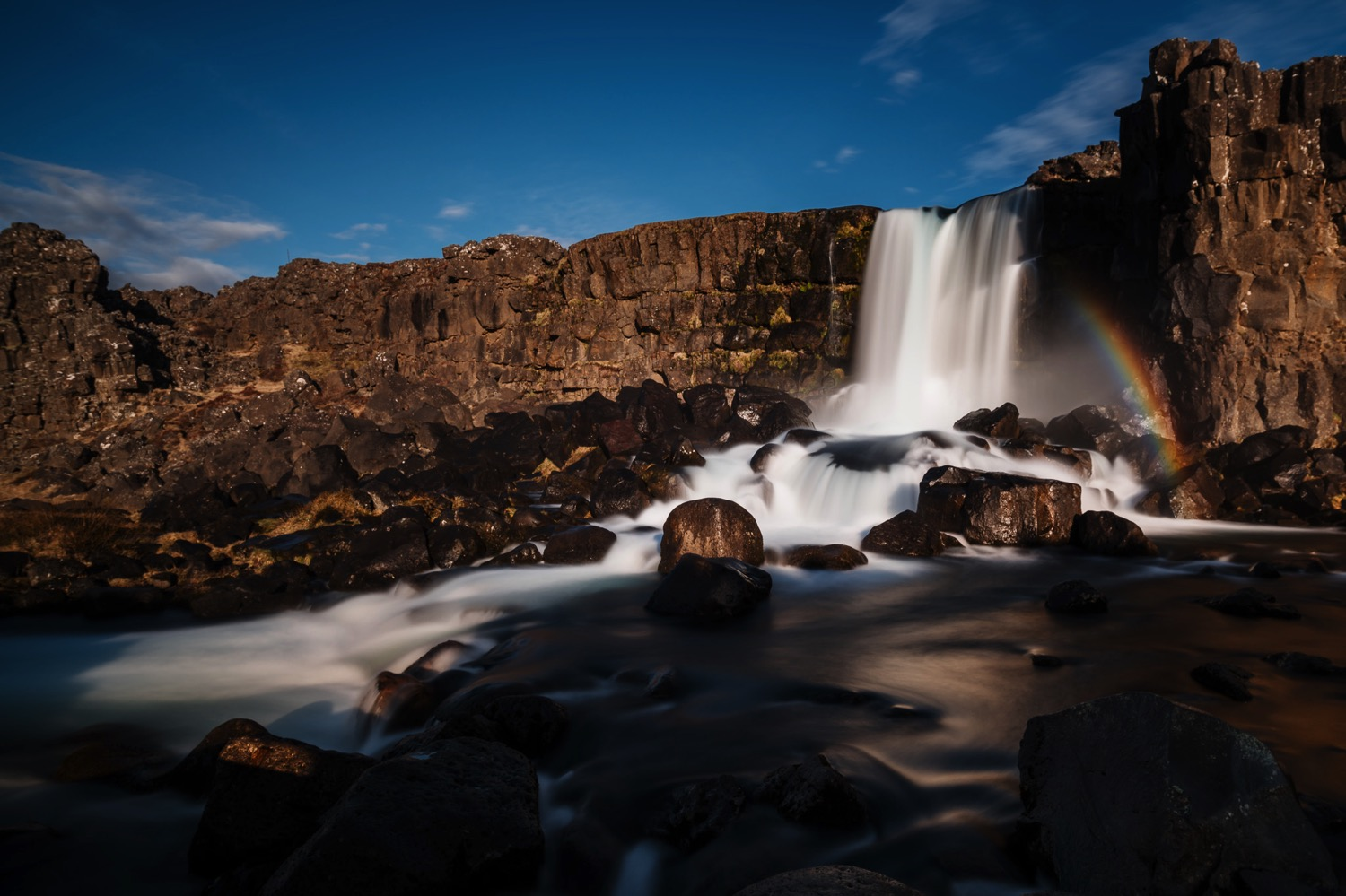 Rainbow at �xar�rfoss - Iceland Blog Part II