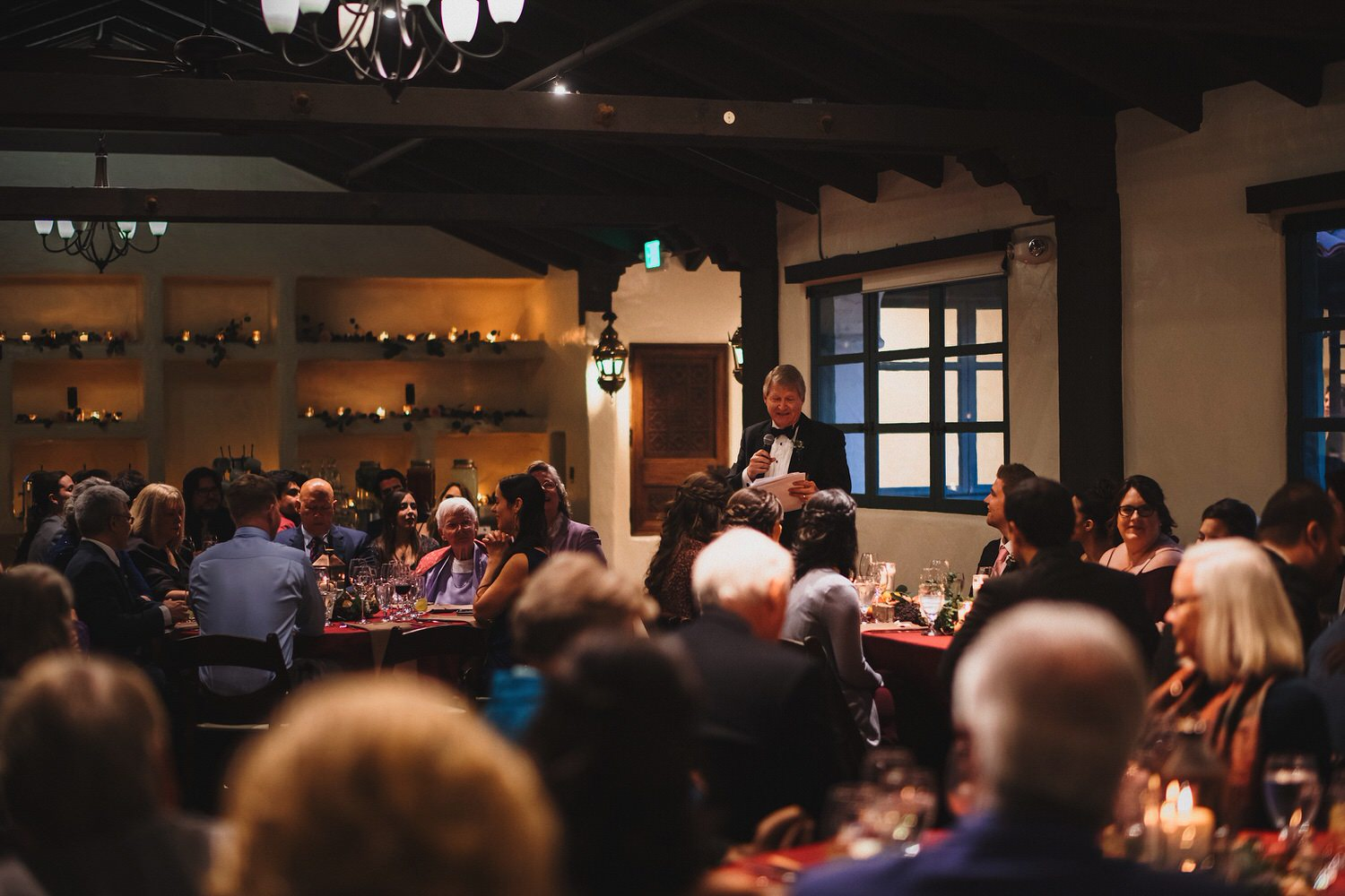 Father giving speech