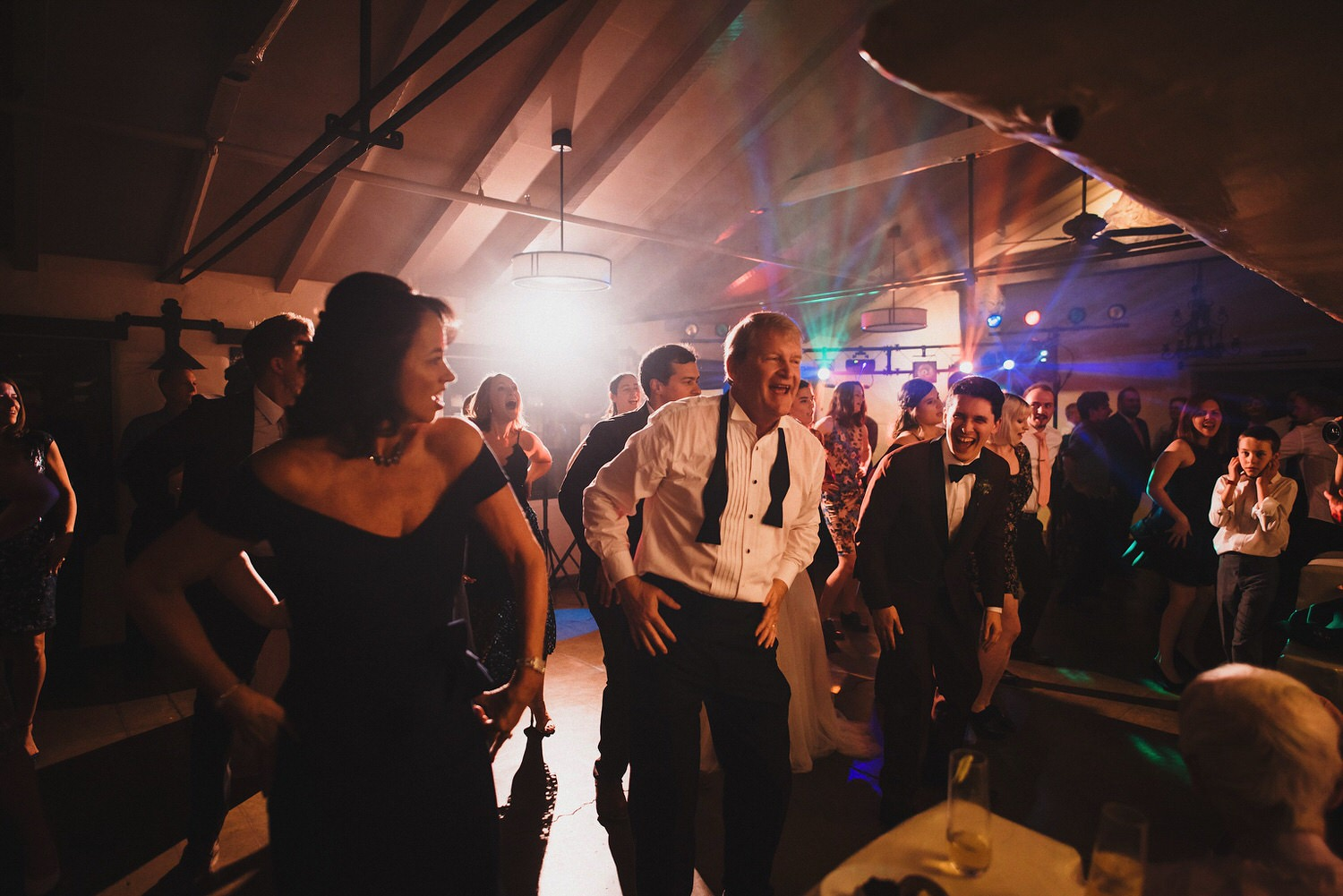 Wedding Dance Party with Lasers