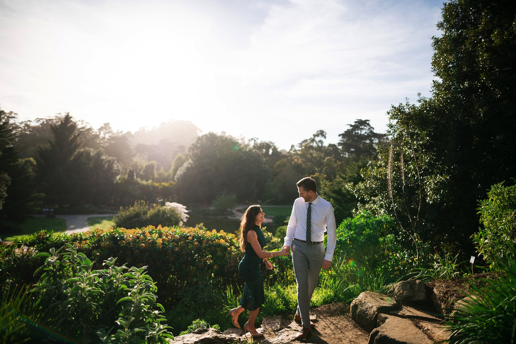 SF Botanical Garden Engagement Photos // Bay Area Wedding Photographer