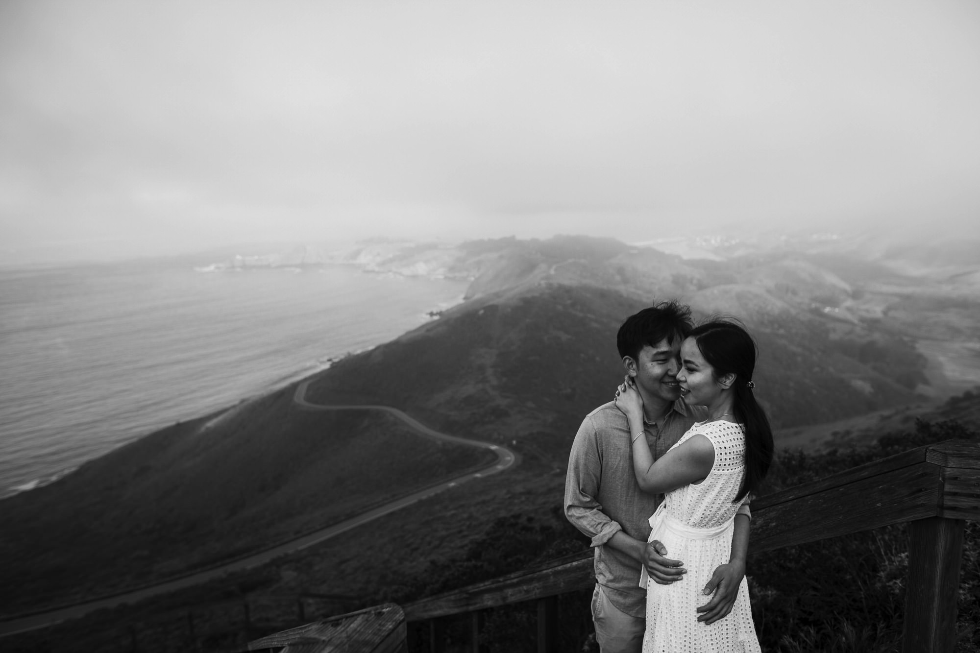 Marin Headlands Engagement Session // Alan + Thu - Photo by Trung Hoang Photography | www.trunghoangphotography.com | San Francisco Bay Area Wedding Photographer