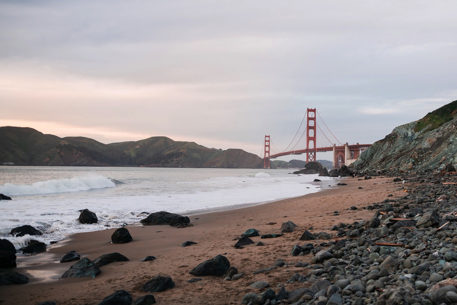 Overlooking Marshall's Beach to the Golden Gate Bridge