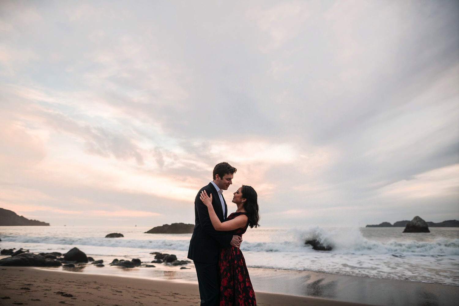 Bay Area Beach engagement photos
