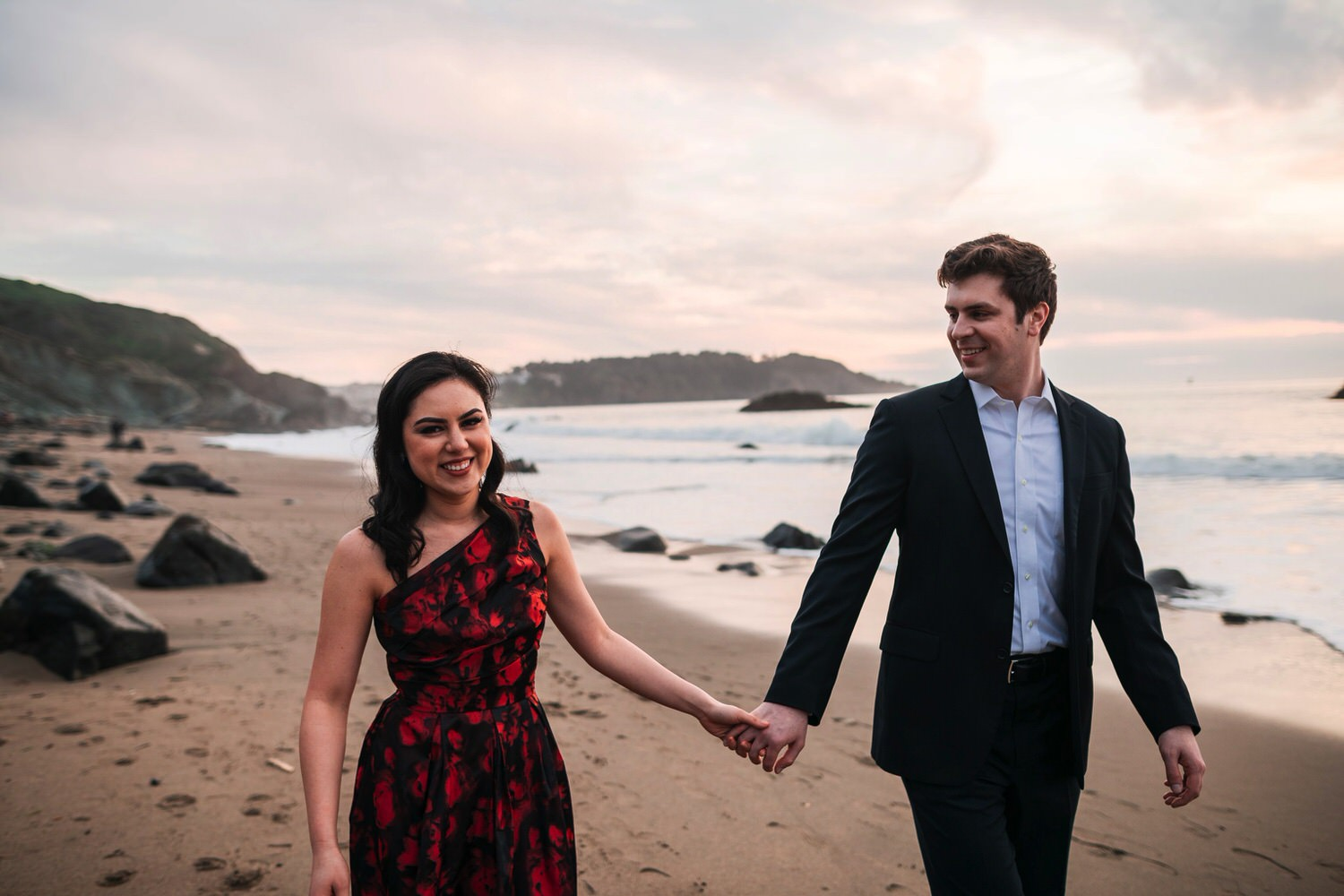 Marshall's Beach Engagement Photos