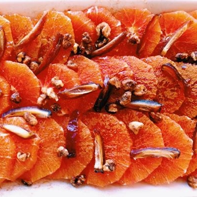 Oranges with Dates and Rosewater  - This elegant composition of flavors from the Middle East is refreshing, delicious and so simple to make. It works equally well as a side salad or dessert.