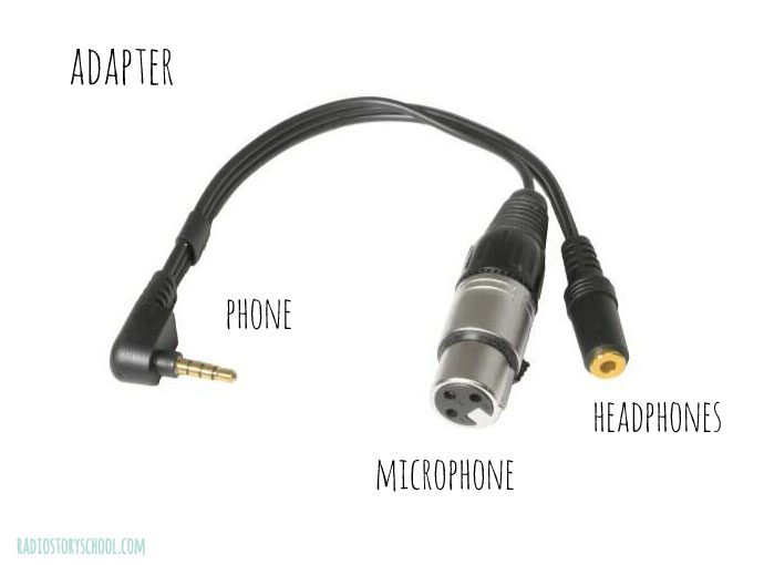 Microphone adapter for smart phone