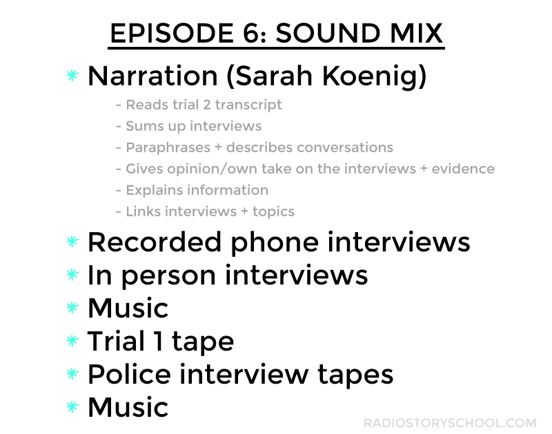 Types of tape in serial episode 6