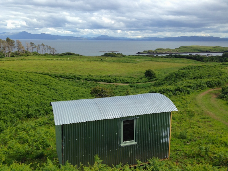 View from The Shepherd's Hut to the mainland