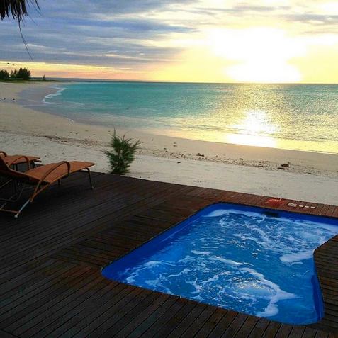 """Medjumbe Island. """"Killer sunset over my plunge pool on Mudjumbe Private Island in Mozambique! What a beautiful place! Have you been to Mozambique?"""""""