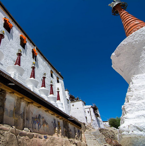 """""""The Thiksey Monastery of Ladakh is so peaceful that it's hard to believe that people actually live here. Granted, those people are actually Buddhist monks so I guess no Netflix and Chill for them? Would you like to live in a Buddhist Monastery?"""""""