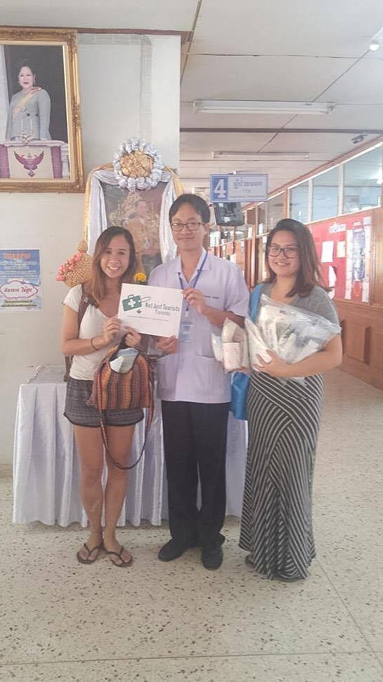 Dropping off the supplies at Pai Hospital.