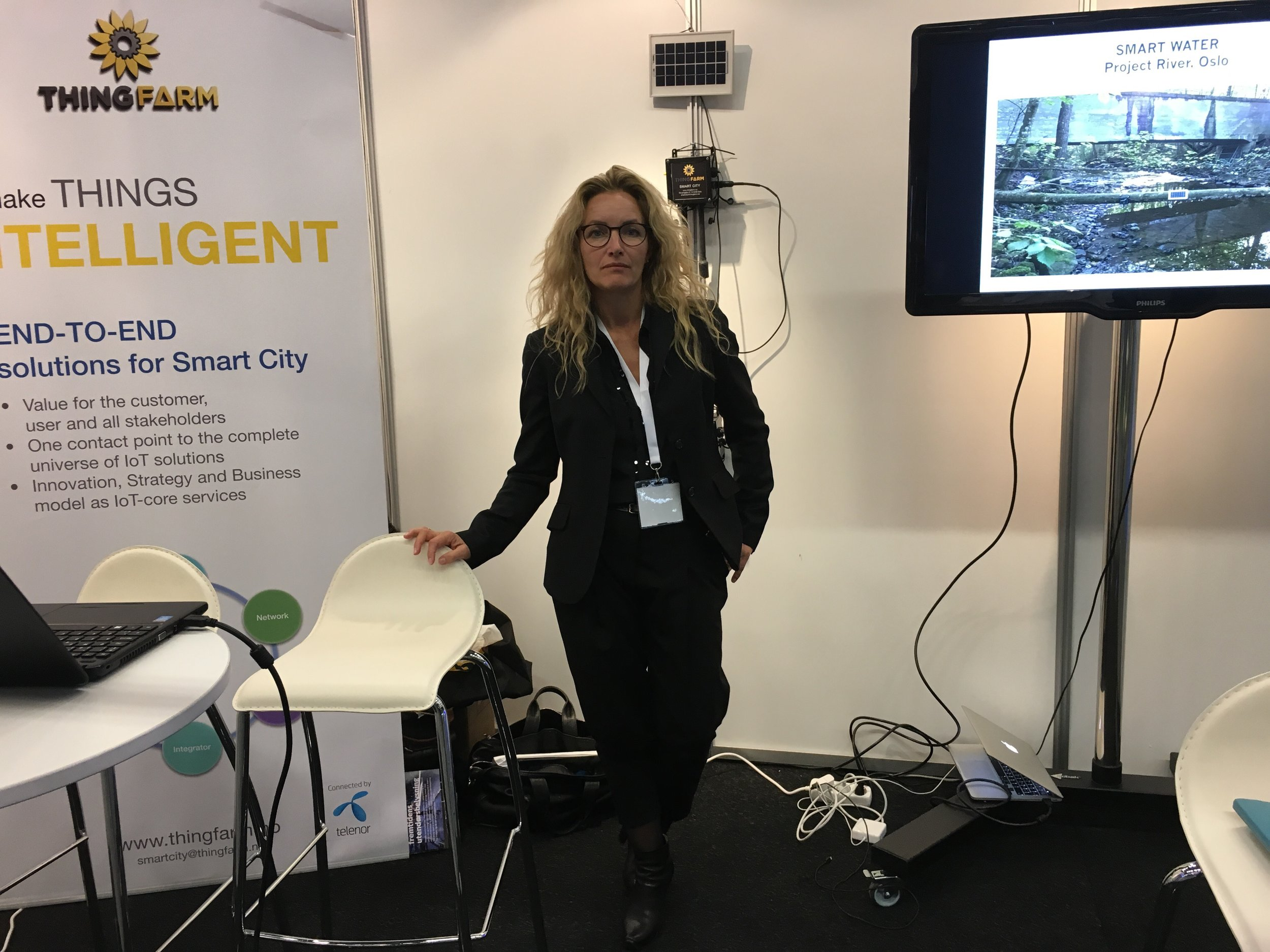 Our CEO heidi scheie attending our booth of smart air & Smart Water