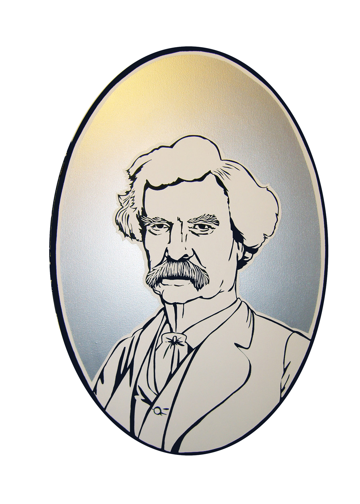"""Twain"", house and metallic paint on canvas - Percent for Art PS169 2009 46""x30"""