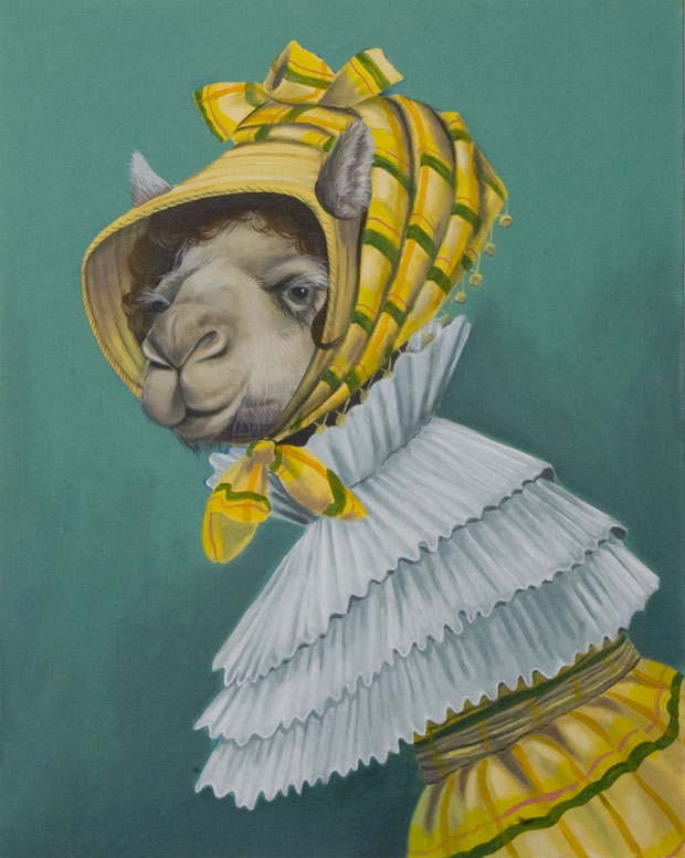"""""""Camel lady"""", house paint on canvas - 2012"""