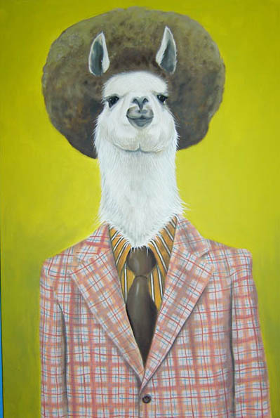 """""""70's Dude"""", house paint on canvas - 2012"""