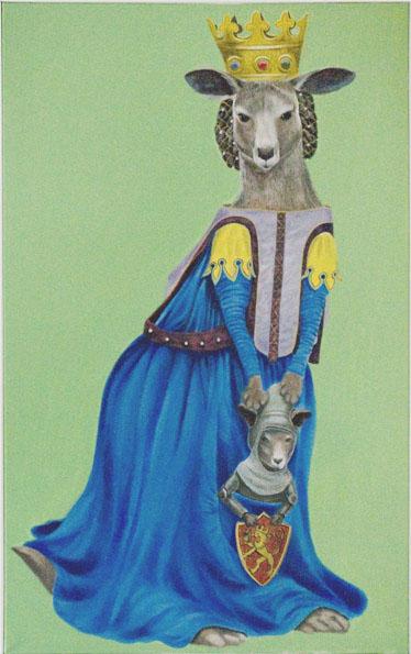 """""""Kangaroo"""", house paint on canvas - 2012"""