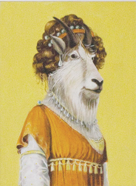 """Goat Lady"", house paint on canvas - 2012"