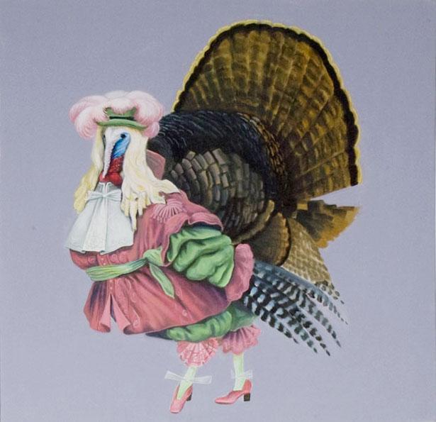 """Turkey Boy"", house paint on canvas - 2012"