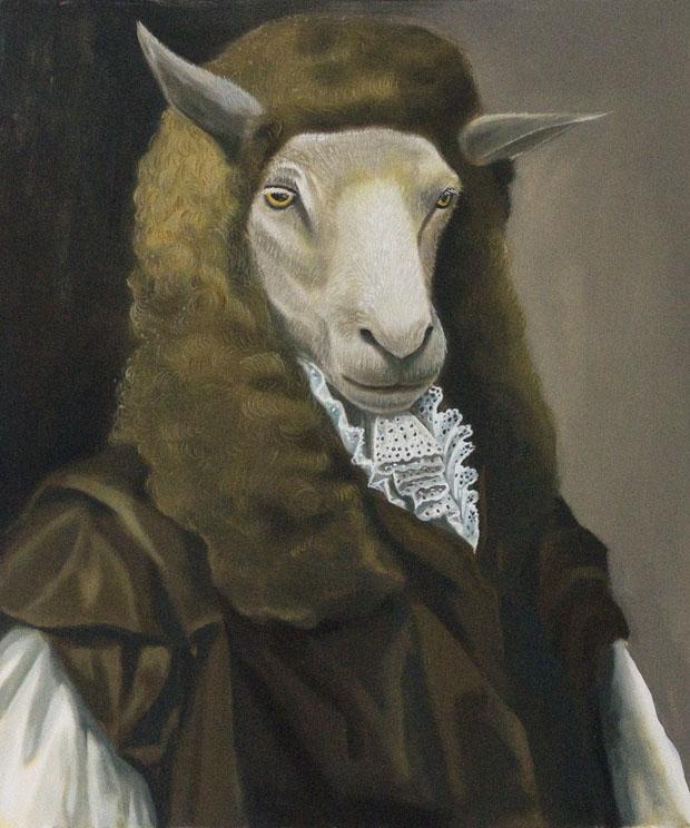 """Judge"", house paint on canvas - 2012"