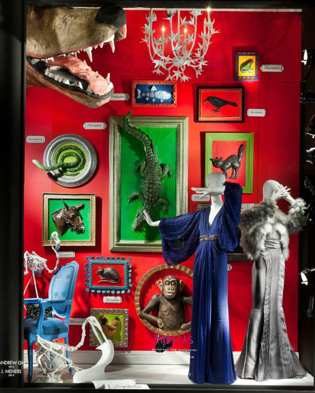 """Phobia Windows"", paint on board, paper mache - 2011"