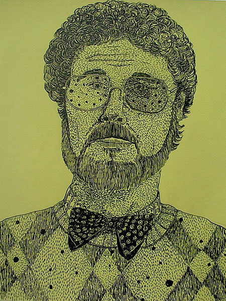 """Dr Jacoby"", ink on paper - 2013 12""x14"""