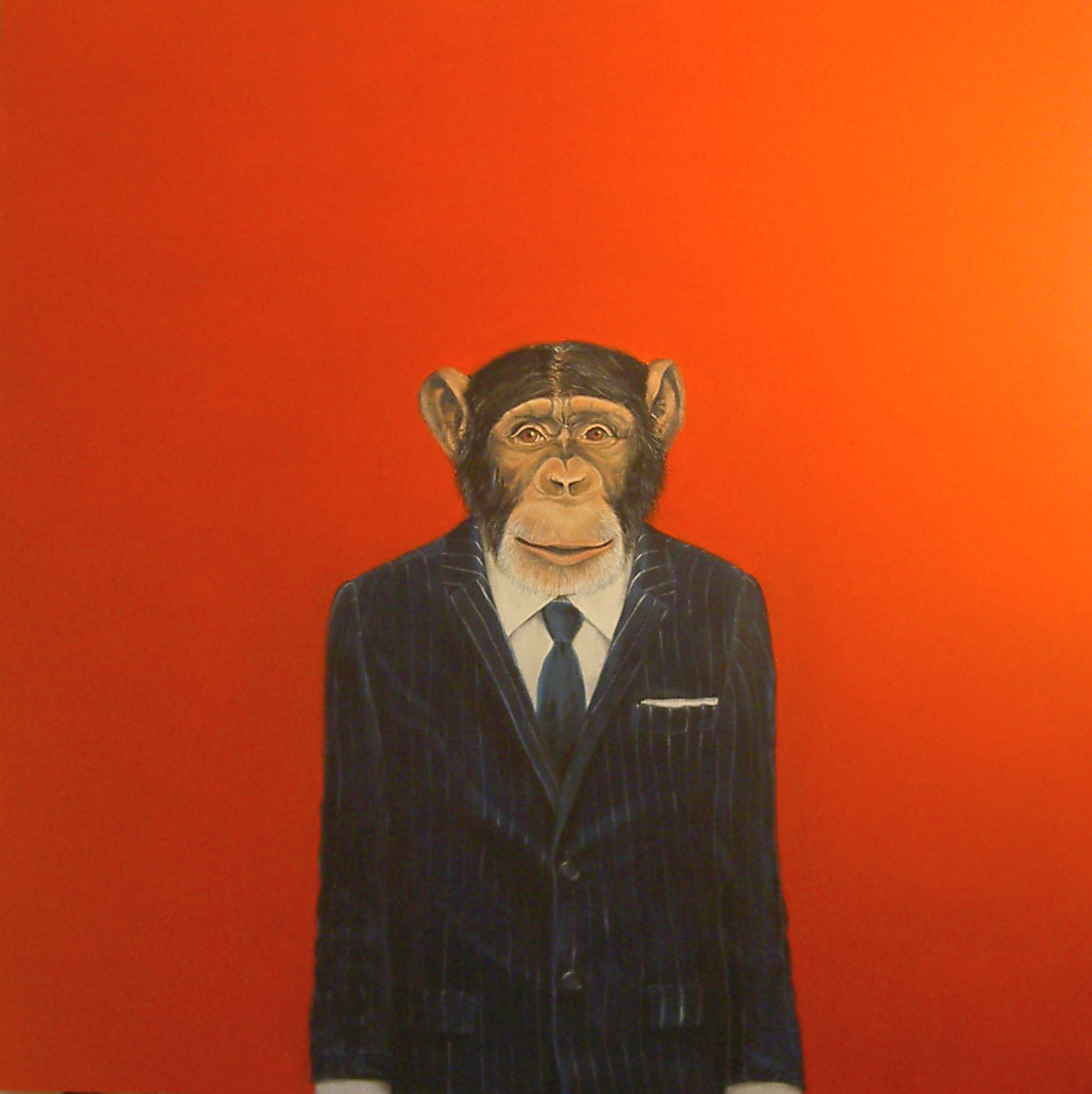 """""""Monkey Suit 2"""", house paint on canvas - 2009 48""""x48"""""""