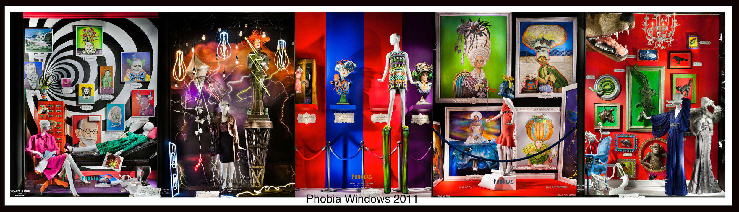 Phobia halloween windows