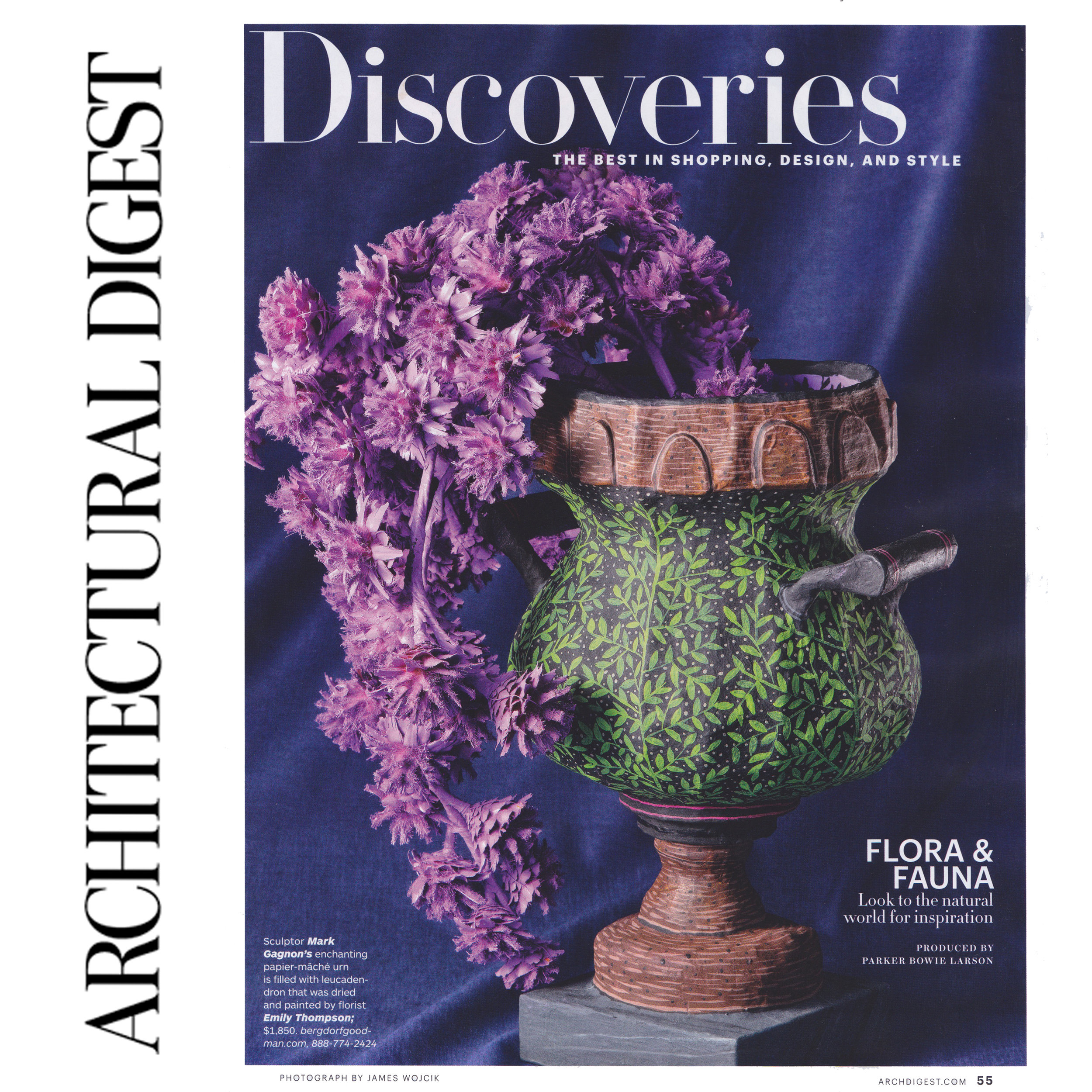 Featured in Architectural Digest November issue 2016
