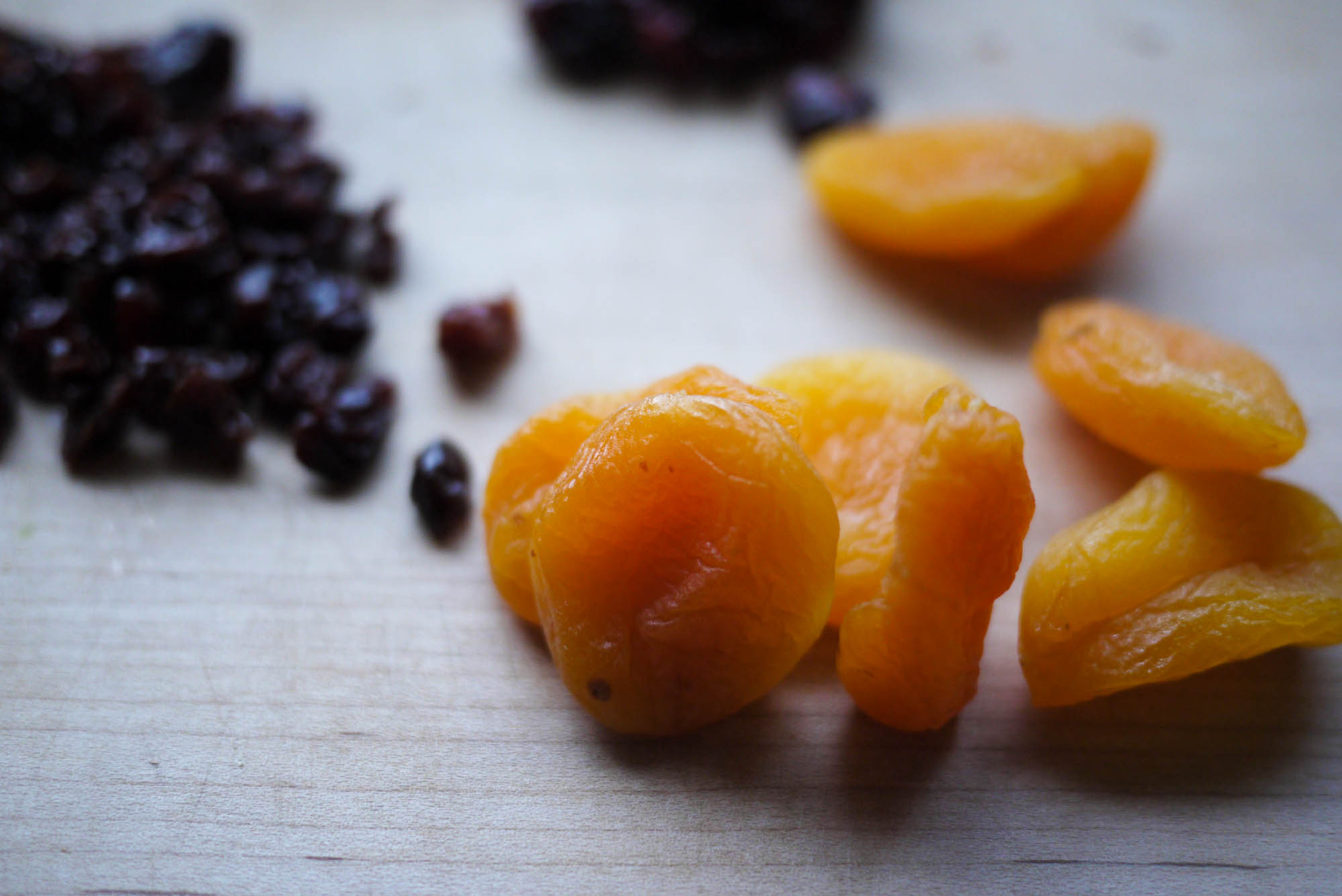 Dried Cherries, Cranberries, and Apricots