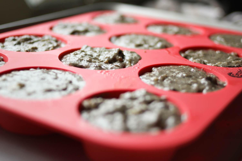 Gluten Free Banana Chocolate Hazelnut Muffins | metalandhoney.com