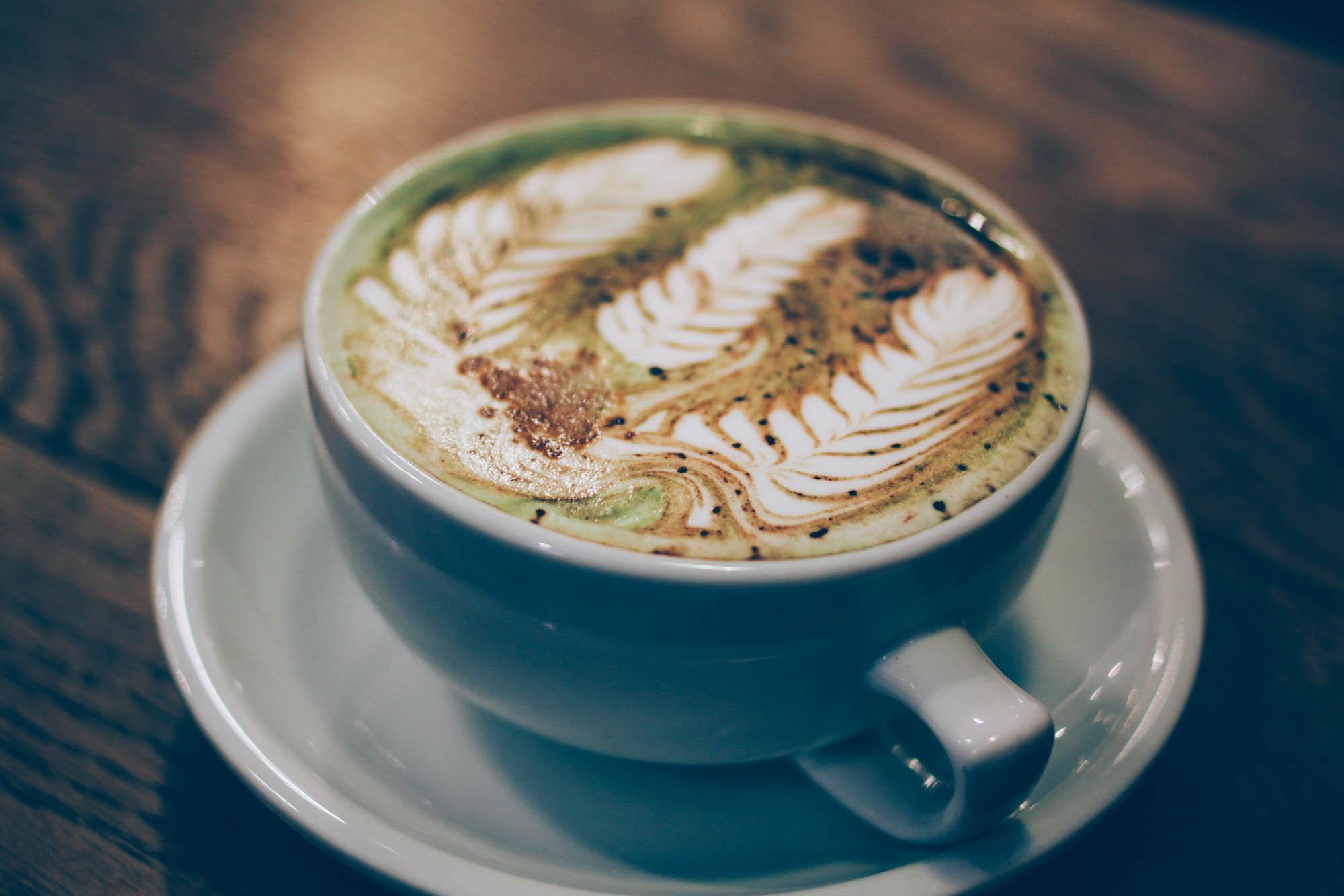 "Matcha White Chocolate Espresso Latte - ""Military Latte"""