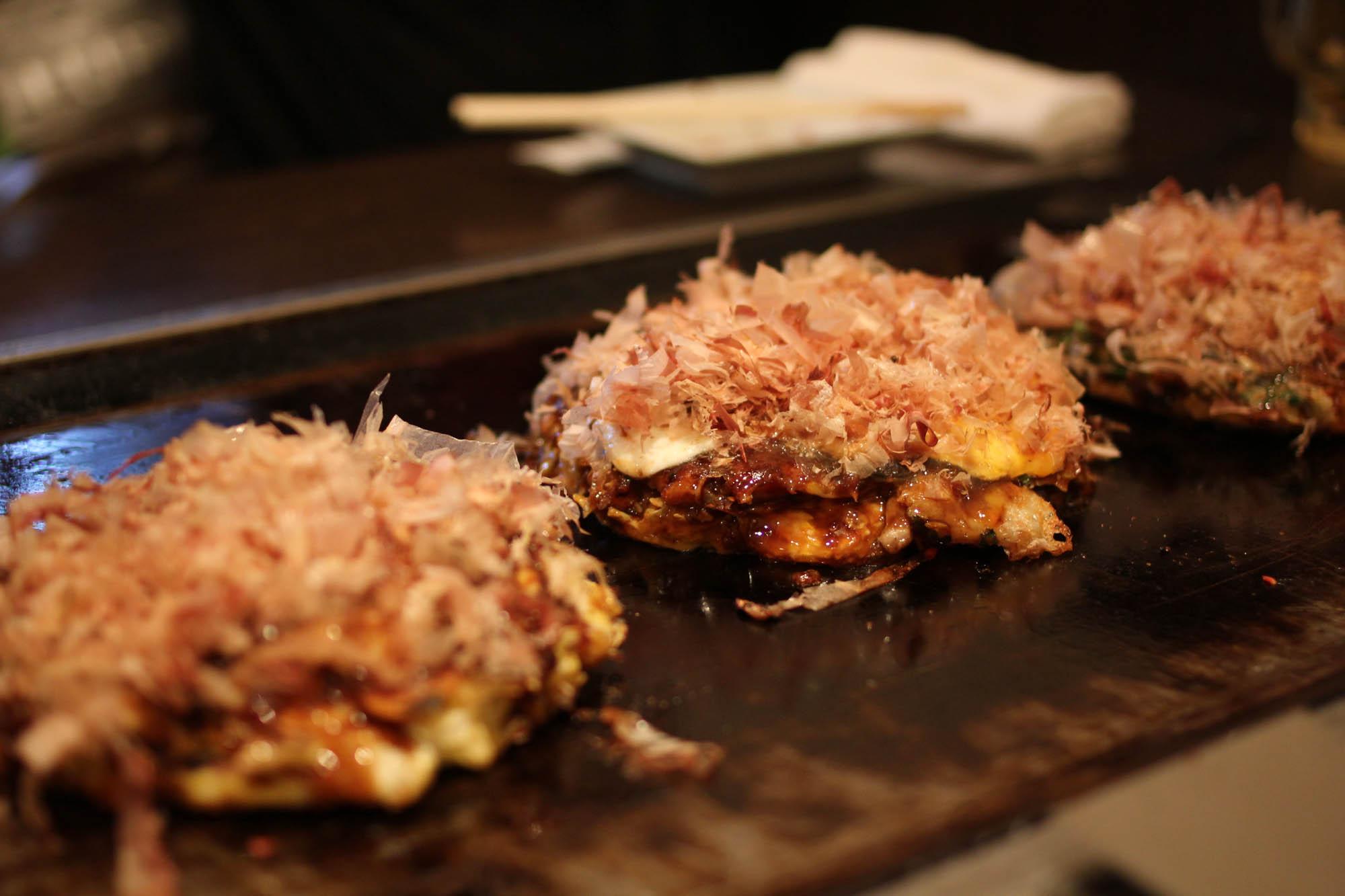 Okonomiyaki Sanpei at Hozenji Yokocho