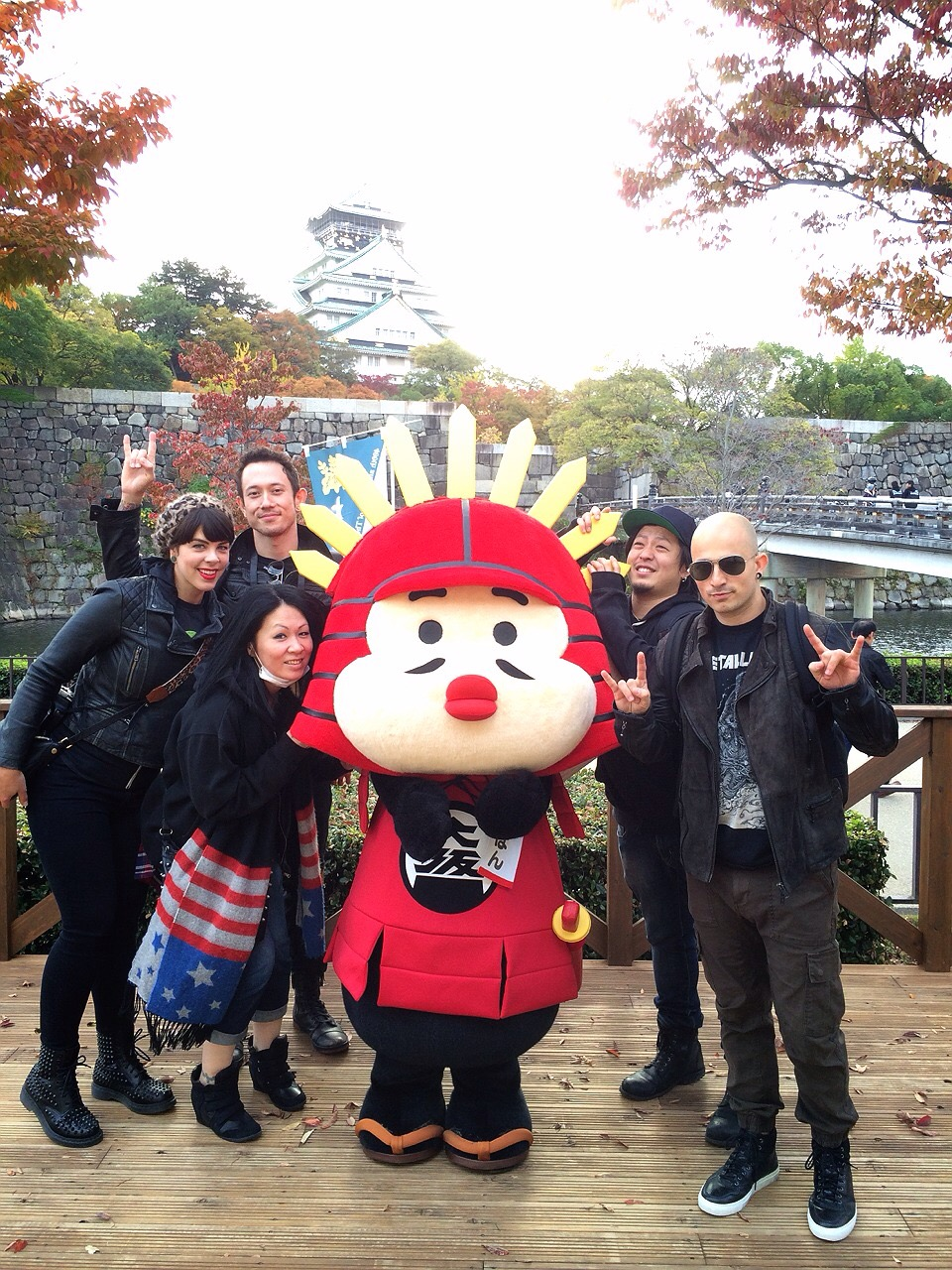 With our friends Paolo, Yoko, and Yuichi at Osaka Castle