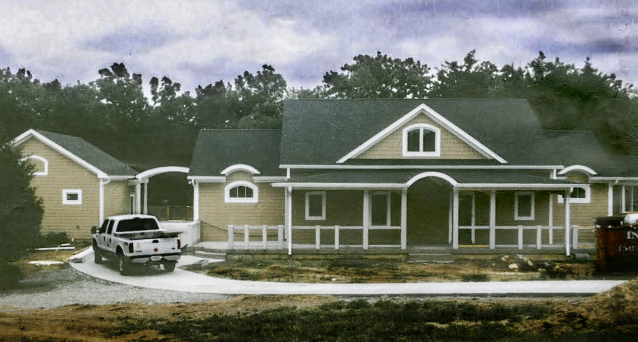 Front elevation before landscaping