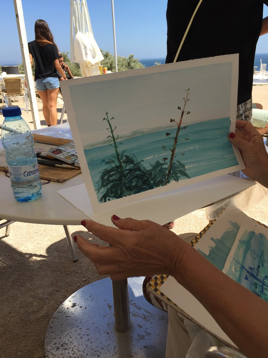 Painting meeting at Ponta do Sal -  Cascais 20160629