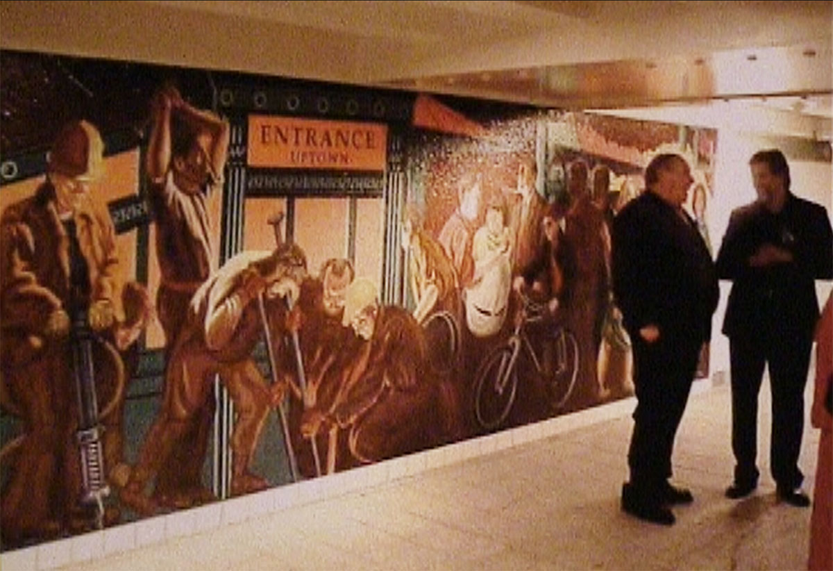 "Jack Beal, September. 2011, ""The Return of Spring,""  installed  on the mezzanine of the subway station complex under Times Square."