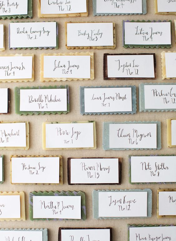 Place Card Soap Wall