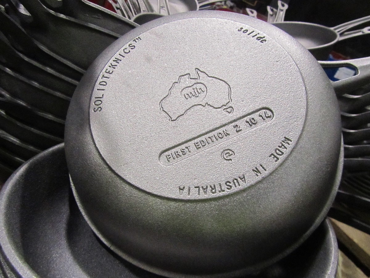 AUSfonte First Edition 2 10 14 cast iron Sauteuse pan by SOLIDTEKNICS