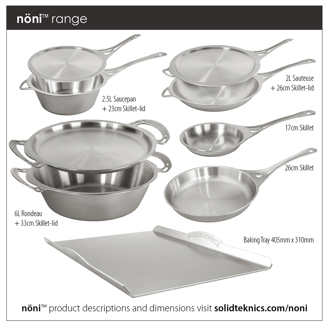 nöni™ Ferritic Stainless Steel Care Guide -    CLICK HERE