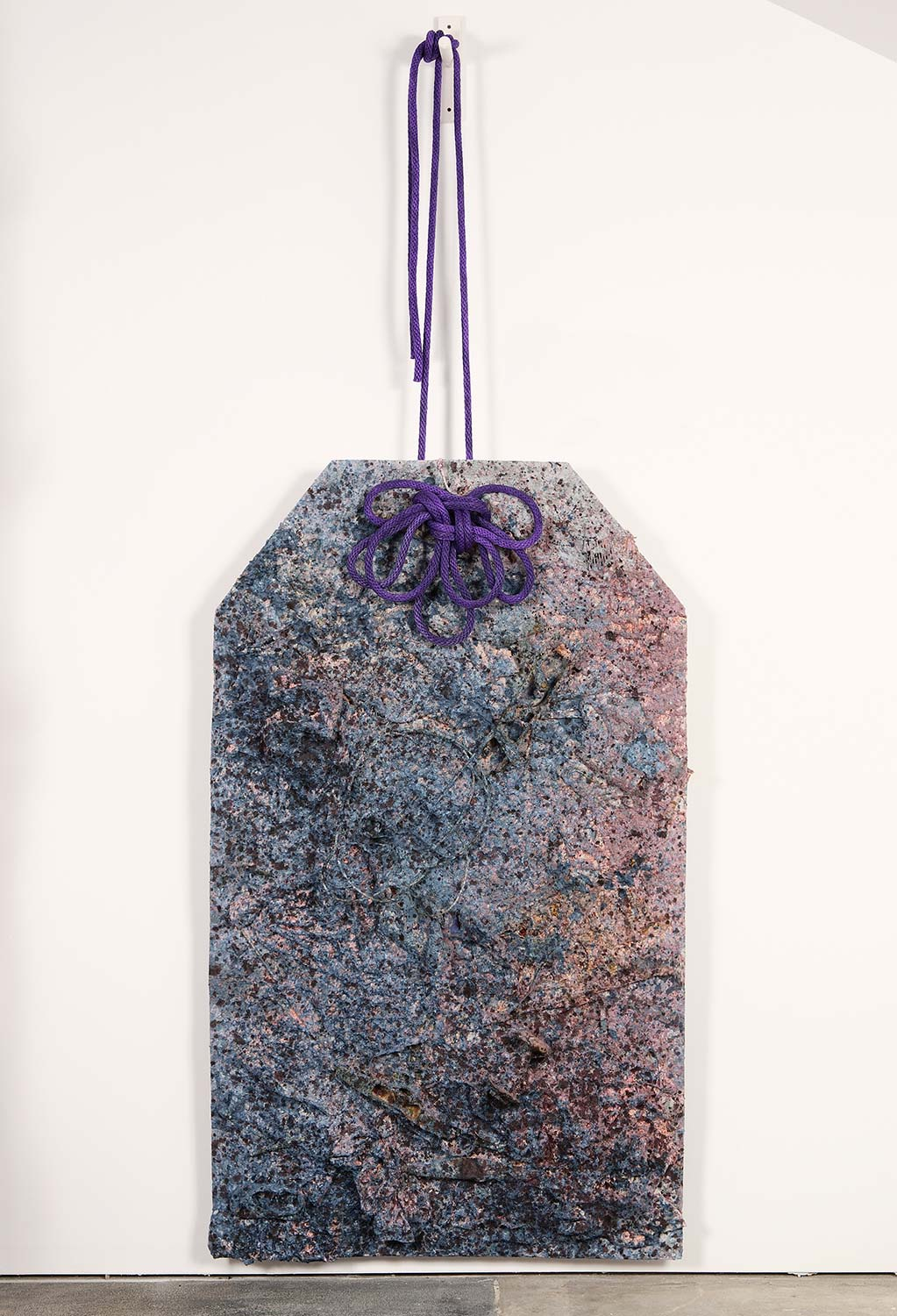 Omamori III: Forgotten  2011, 10'x4'x1' Mixed Media: discarded objects, abaca fiber, natural dyes, and rope