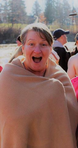 Benita Browning, my mother-in-law has pledged to make 2017 a year full of new experiences. Her first one - participating in our city's Polar Bear Plunge.