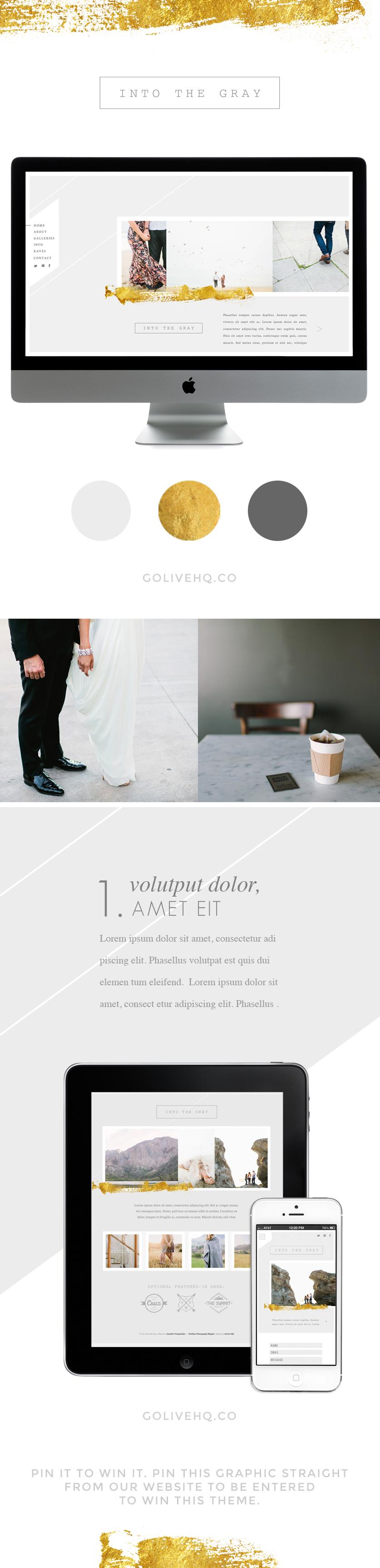 modern website theme - golivehq.co