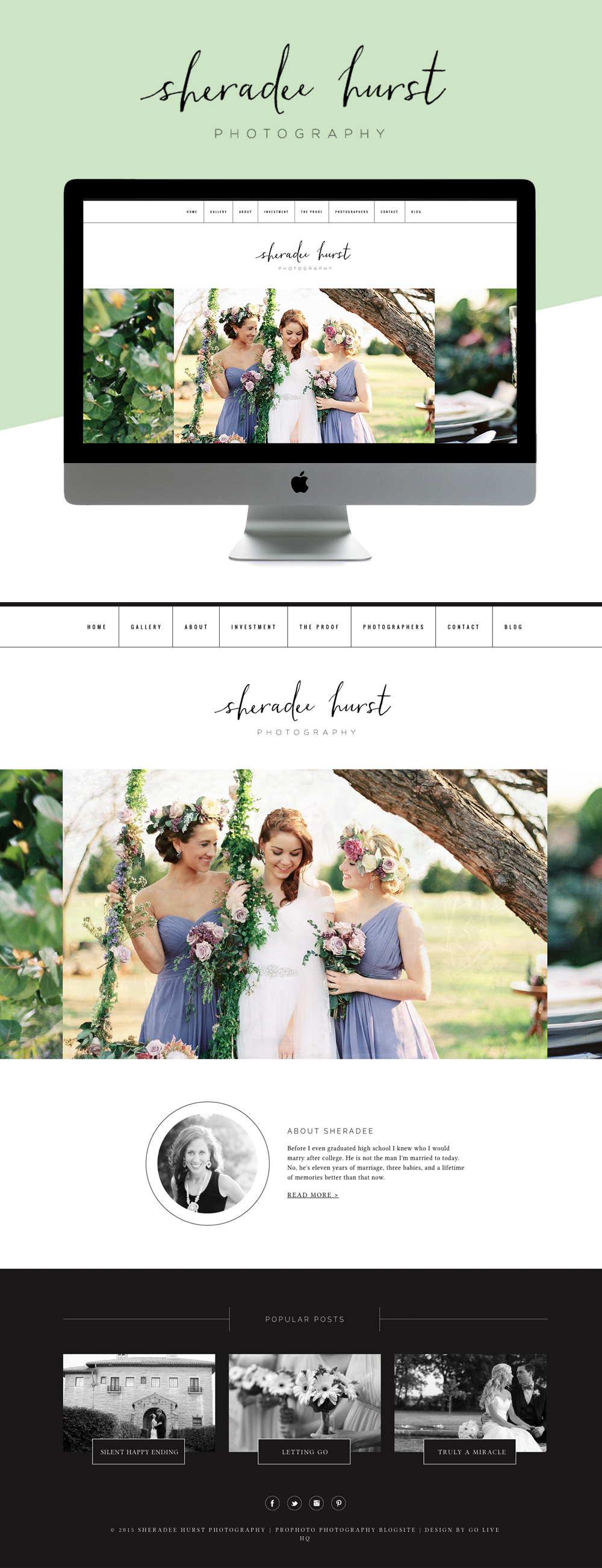 pretty photography website