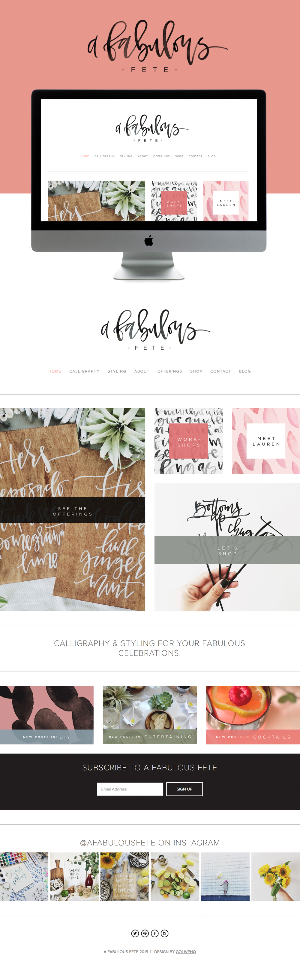 Calligraphy website - by GOLIVEHQ.CO